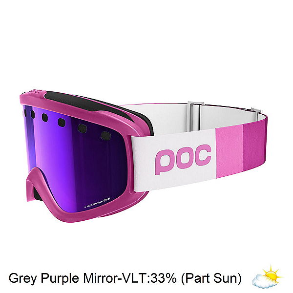 POC Iris Stripes Small Goggles, Ethylene Pink-Grey Purple Mirror, 600
