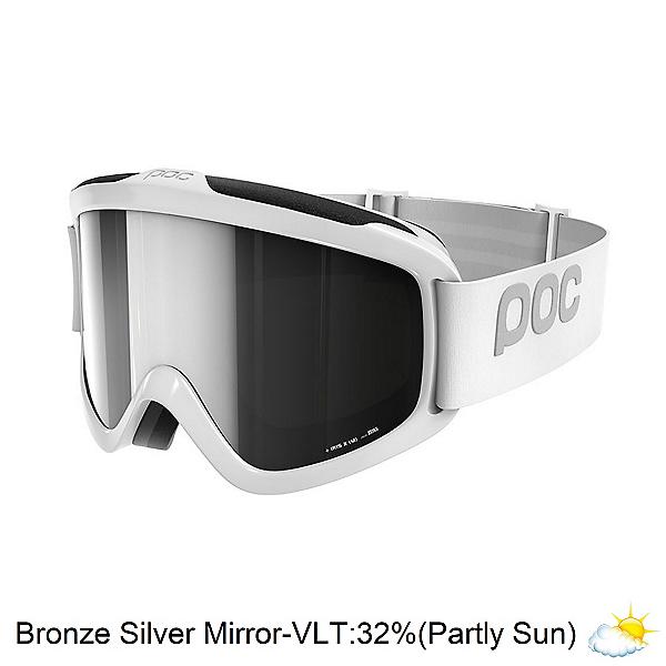 POC Iris X Goggles, Hydrogen White-Bronze Silver Mirror, 600