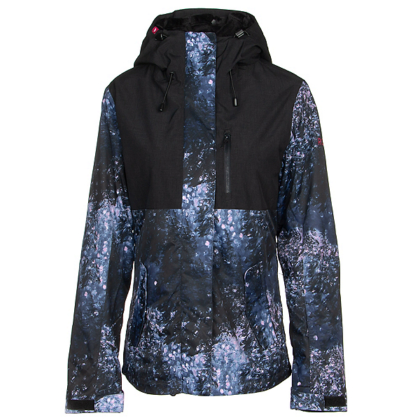 Roxy Jetty 3-in-1 Womens Insulated Snowboard Jacket, Medieval Blue Sparkles, 600