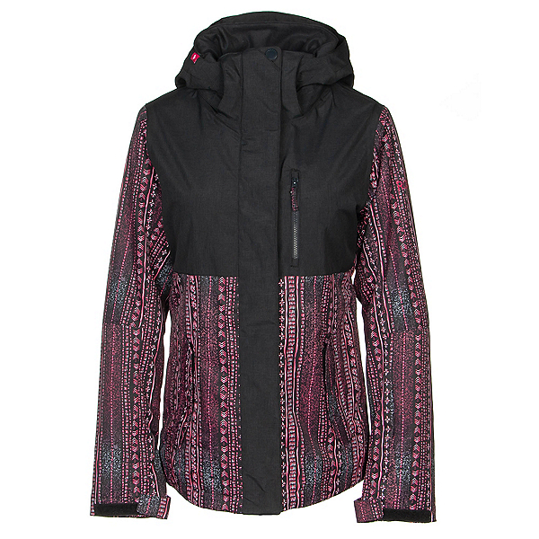 Roxy Jetty Block Womens Insulated Snowboard Jacket, True Black-Dont Be Shy, 600
