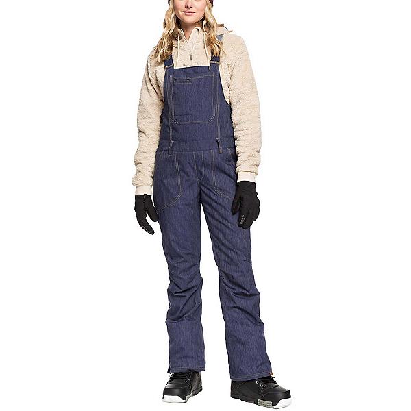Roxy Rideout Bib Womens Snowboard Pants, Mid Denim, 600