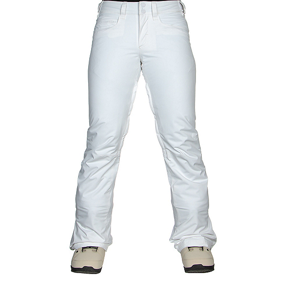 Roxy Backyard Womens Snowboard Pants, Bright White, 600