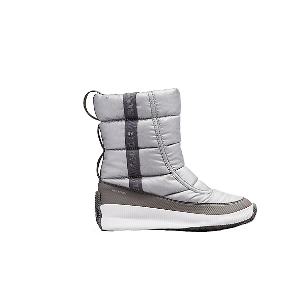 Sorel Out N About Puffy Mid Womens Boots, Pure Silver, 600