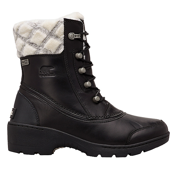 Sorel Whistler Mid Womens Boots, Black-Natural, 600