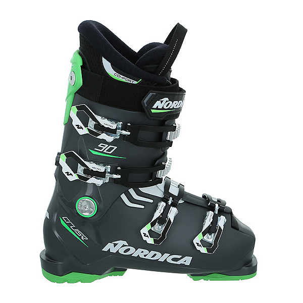 Nordica Cruise 90 Ski Boots, Anthracite-Green-White, 600