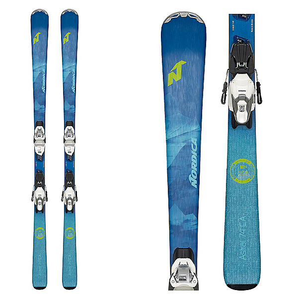 Nordica Astral 74 CA Womens Skis with TP2 Compact 10 FDT Bindings 2020, , 600