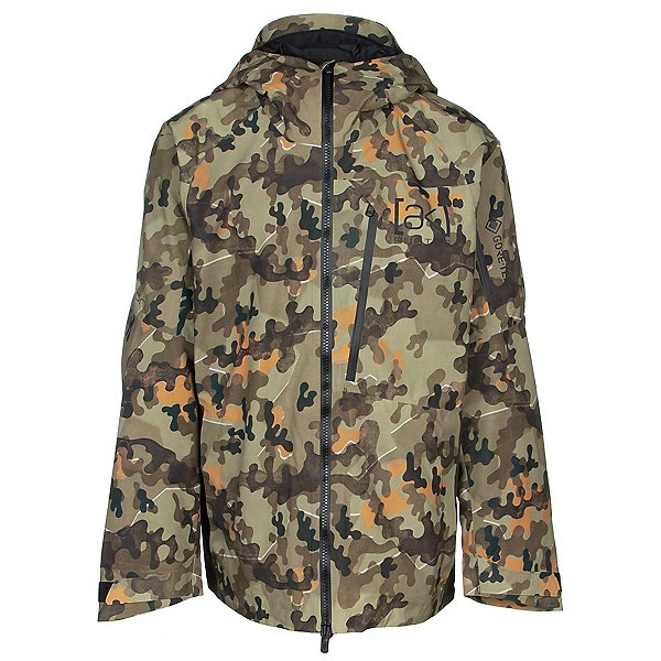 Burton [ak] GORE-TEX Cyclic Mens Shell Snowboard Jacket, Keef Shelter Camo, 600