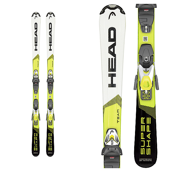 Head Supershape Team SLR Pro 4.5 Kids Skis with SLR 4.5 GW Bindings 2020, , 600