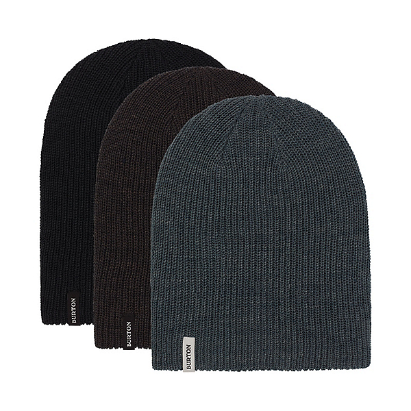 Burton DND 3-Pack Hat, True Black-Phantom-Dark Slate, 600