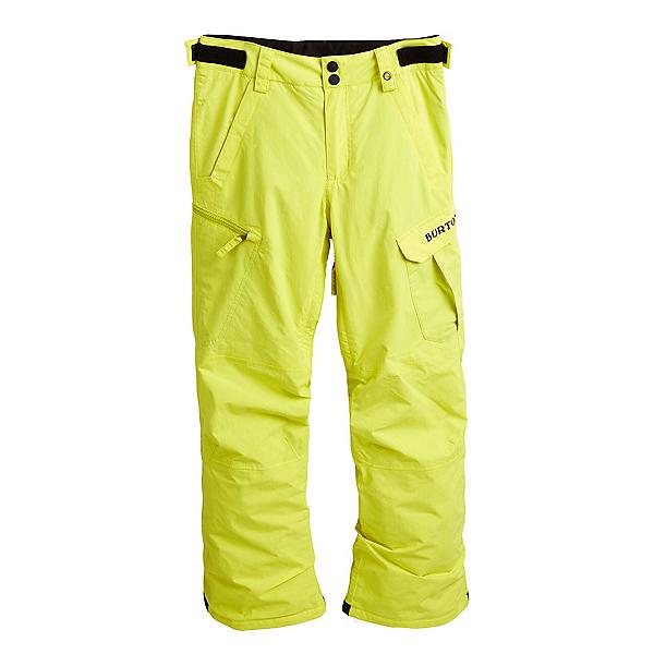 Burton Exile Cargo Kids Snowboard Pants 2022, Sulpher Yellow, 600