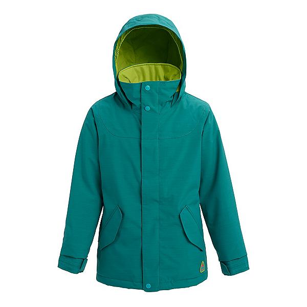 Burton Elodie Girls Snowboard Jacket, Green Blue Slate Heather, 600