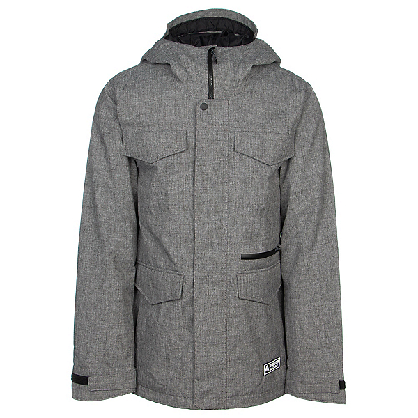 Burton Covert Mens Insulated Snowboard Jacket, Bog Heather, 600