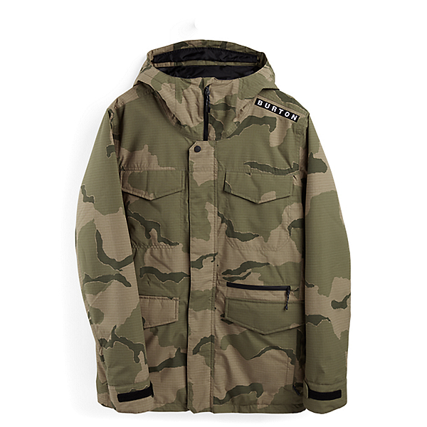 Burton Covert Mens Insulated Snowboard Jacket, Barren Camo, 600