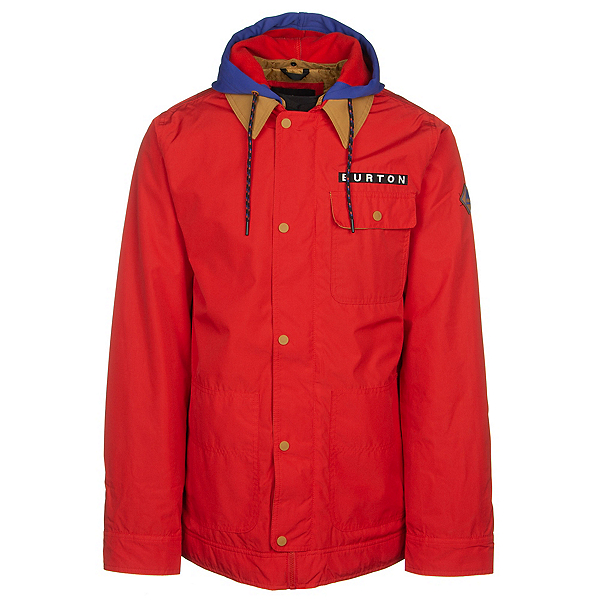 Burton Dunmore Mens Insulated Snowboard Jacket, Flame Scarlet, 600