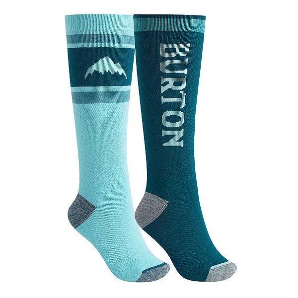 Burton Weekend 2-Pack Womens Snowboard Socks, Blue Caracao, 600