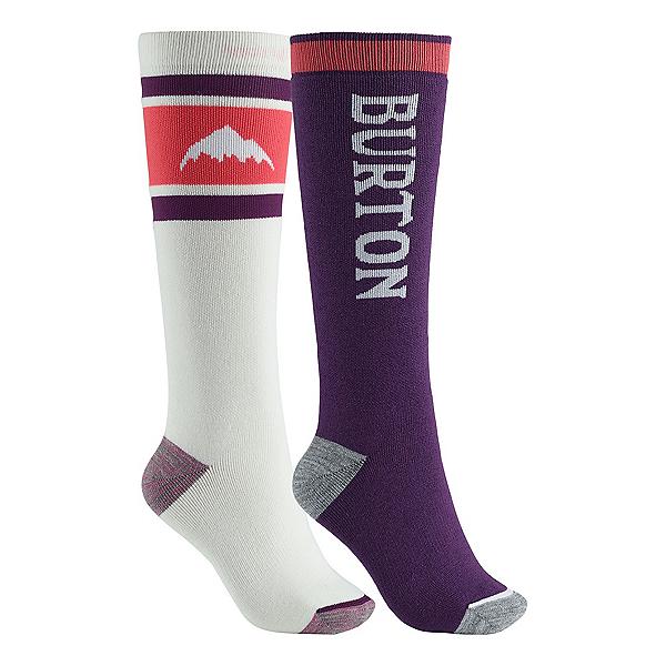 Burton Weekend 2-Pack Womens Snowboard Socks, Stout White, 600