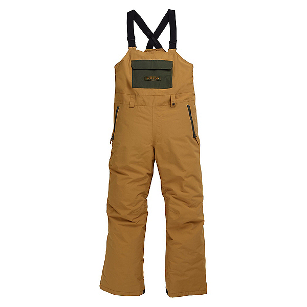 Burton Skylar Bib Kids Snowboard Pants, Wood Thrush, 600