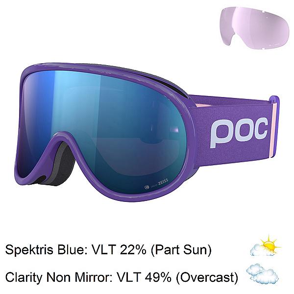 POC Retina Clarity Comp Womens Goggles 2020, Ametist Purple-Spektris Blue + Bonus Lens, 600