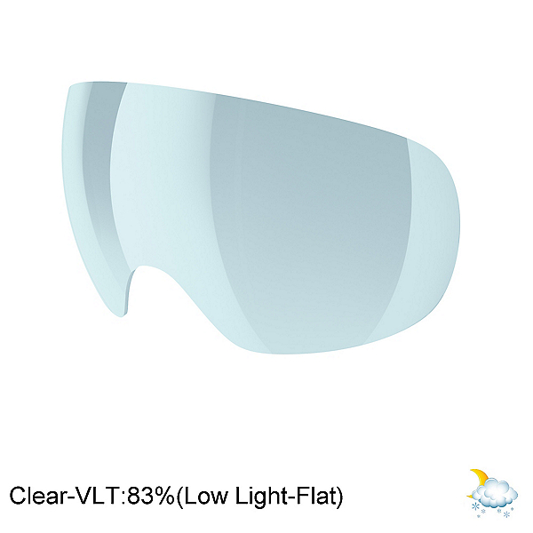 POC Fovea Goggle Replacement Lens, Clear, 600