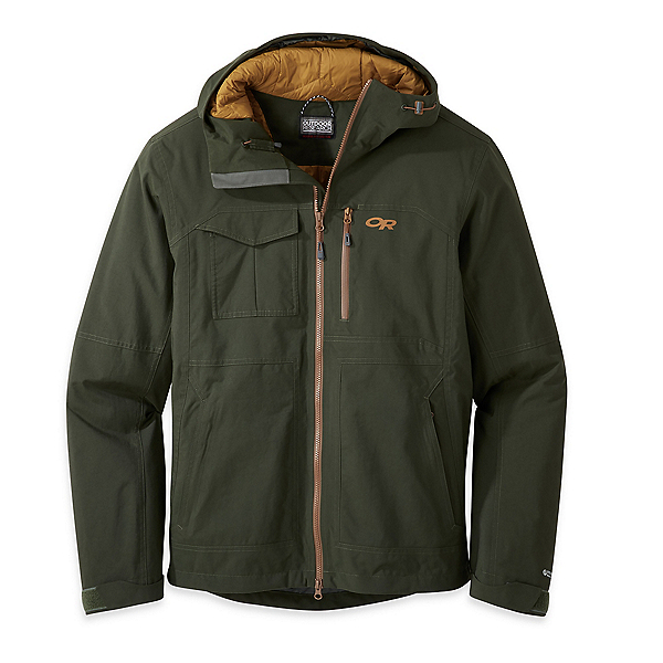Outdoor Research Blackpowder II Mens Shell Ski Jacket, Forest, 600