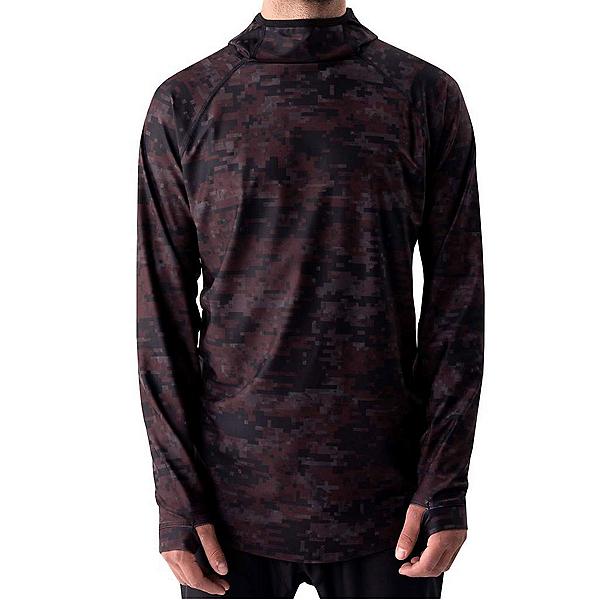 BlackStrap Summit Hooded Mens Long Underwear Top 2022, Maroon, 600
