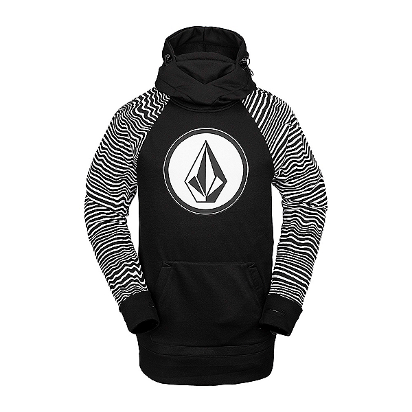 Volcom Hydro Riding Mens Hoodie, Black Stripe, 600