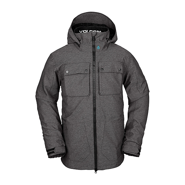 Volcom Pat Moore 3 in 1 Mens Insulated Snowboard Jacket 2020, Black, 600