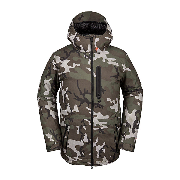 Volcom Deadly Stones Mens Insulated Snowboard Jacket, Gi Camo, 600