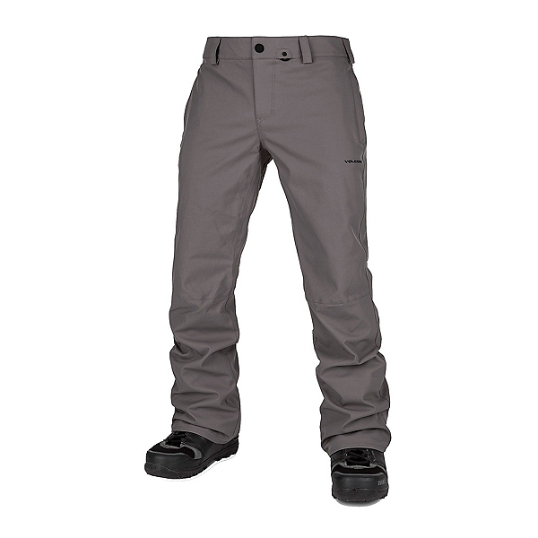 Volcom Klocker Tight Mens Snowboard Pants, Charcoal, 600