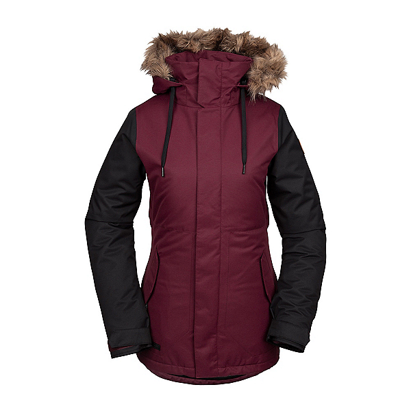Volcom Fawn Faux Fur Womens Insulated Snowboard Jacket 2020, , 600