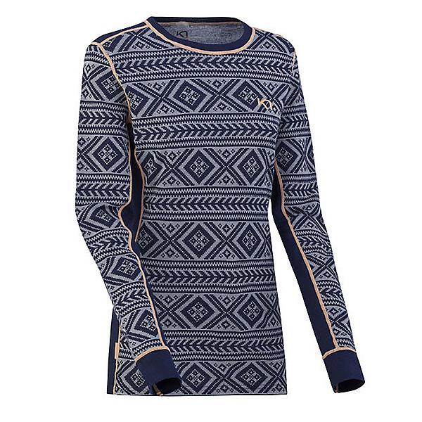 Kari Traa Floke Long Sleeve Womens Long Underwear Top, Nava, 600