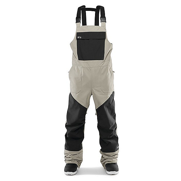 ThirtyTwo Basement Bib Mens Snowboard Pants, Stone, 600
