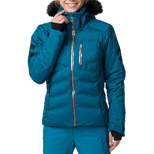 Rossignol Depart Womens Insulated Ski Jacket, Baltic, 600