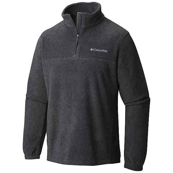 Columbia Steens Mountain Half Zip Fleece Mens Mid Layer 2020, Charcoal Heather, 600