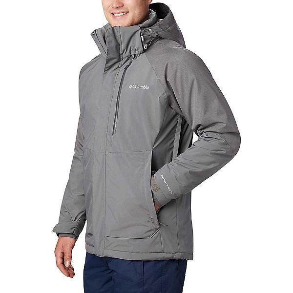 Columbia Wildside Mens Insulated Ski Jacket, City Grey-City Grey Heather, 600