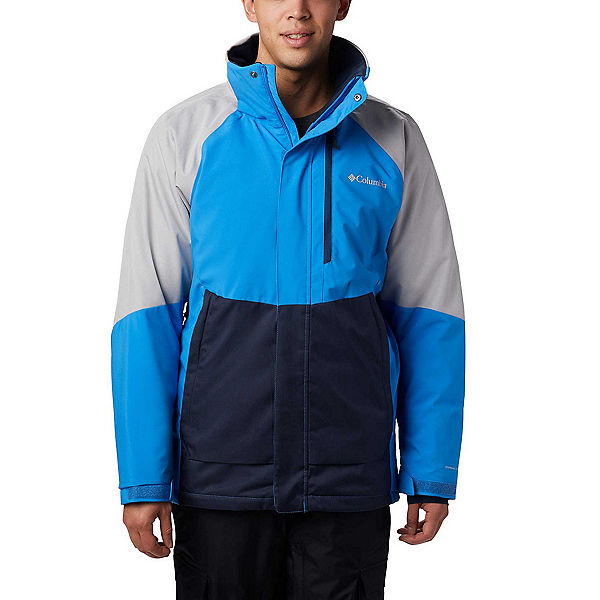 Columbia Wildside Mens Insulated Ski Jacket 2020, Azure Blue-Columbia Grey Heath, 600