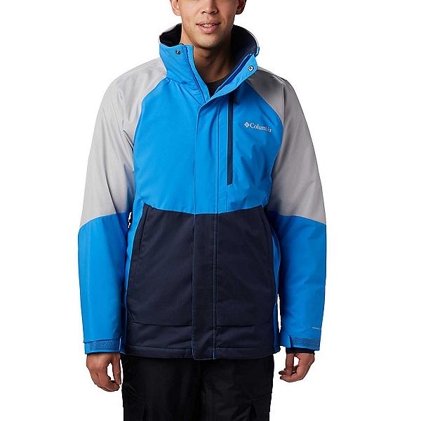 Columbia Wildside - Big Mens Insulated Ski Jacket 2020, Azure Blue-Columbia Grey Heath, 600