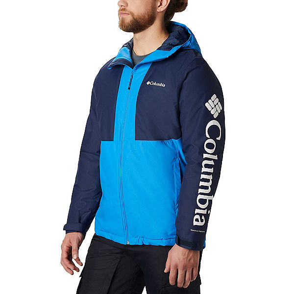 Columbia Timberturner Mens Insulated Ski Jacket 2020, Azure Blue-Collegiate Navy-Col, 600