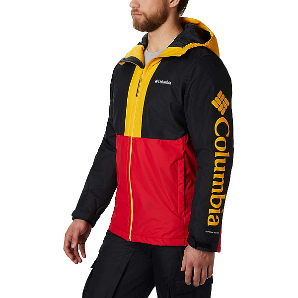 Columbia Timberturner Mens Insulated Ski Jacket 2020, Mountain Red-Black-Stinger, 600