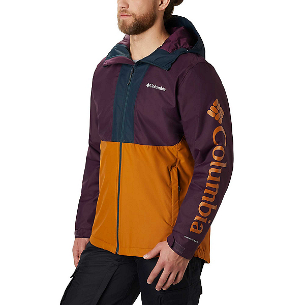 Columbia Timberturner Mens Insulated Ski Jacket 2020, Burnished Amber-Black Cherry-N, 600