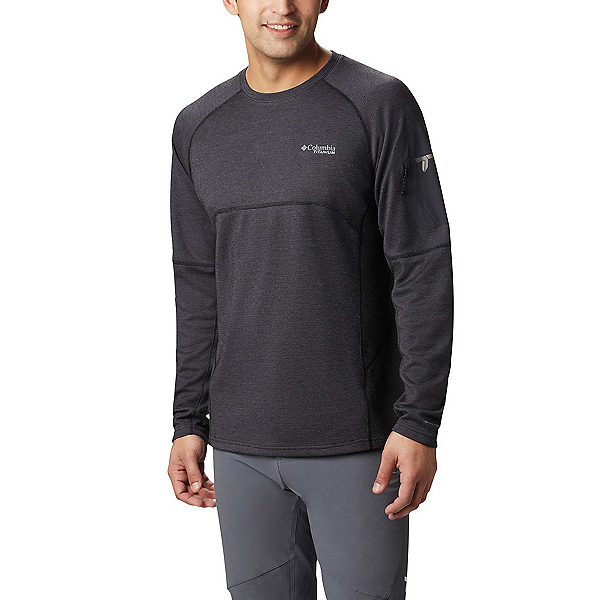 Columbia Mount Defiance Long Sleeve Crew - Big Mens Mid Layer 2020, Black, 600