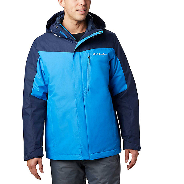 Columbia Whirlibird IV Interchange - Big Mens Insulated Ski Jacket, Azure Blue-Collegiate Navy, 600