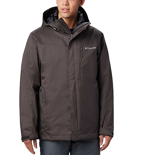 Columbia Whirlibird IV Interchange - Tall Mens Insulated Ski Jacket, Buffalo Melange, 600