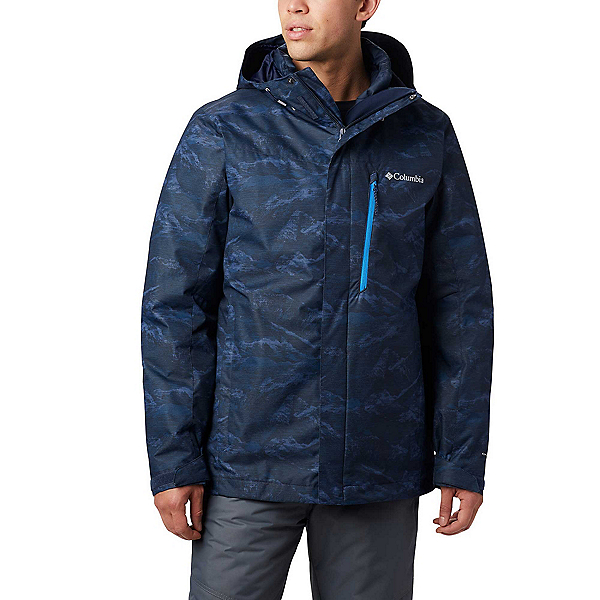 Columbia Whirlibird IV Interchange - Tall Mens Insulated Ski Jacket 2020, Collegiate Navy Mountains, 600