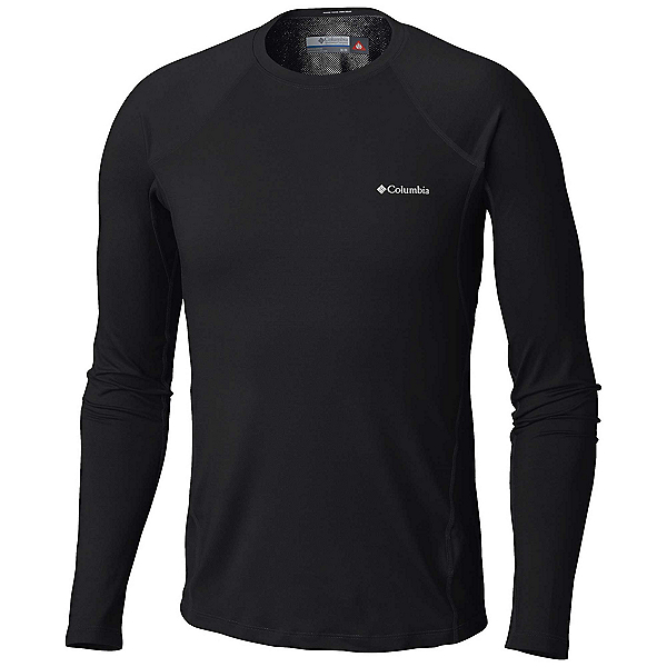 Columbia Heavyweight Stretch Long Sleeve Mens Long Underwear Top, Black, 600