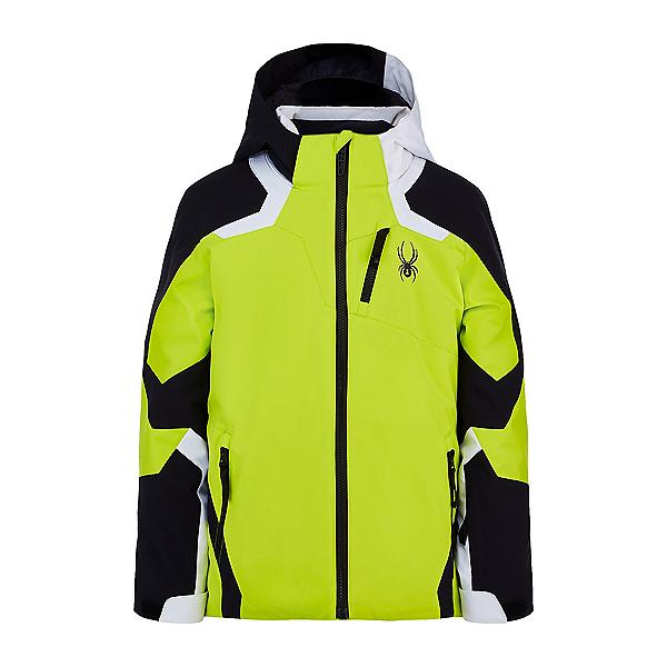 Spyder Leader Boys Ski Jacket, Sharp Lime, 600