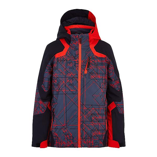 Spyder Leader Boys Ski Jacket, Network Print, 600
