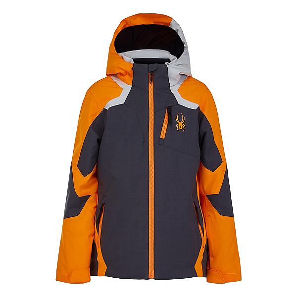 Spyder Leader Boys Ski Jacket 2022, Novelty Gray, 600