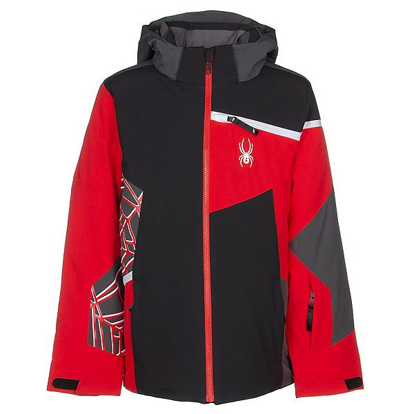 Spyder Challenger Boys Ski Jacket, Black-Volcano, 600