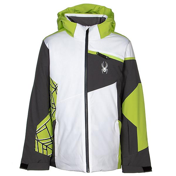 Spyder Challenger Boys Ski Jacket, White, 600